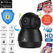 1080P HD WIFI IP Camera BLACK Wireless IN/Outdoor CCTV Home Security IR Cam PIR