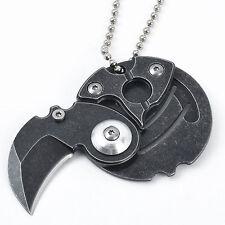 Steel Münze Messer Tragbare Selbstverteidigung im Freien Überlebens -Werkzeu