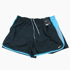 Nike Swim Color Surge Volley Shorts Size XL Mens Black Blue Ness6376 New