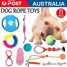 11x Dog Toys Puppy Toys Dog Ball Tough Dog Toys Rope Durable Chew Teeth Kit