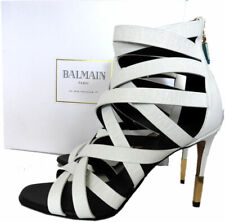 $1190 BALMAIN Charlotte Strappy Gladiator Leather Sandals Pumps Shoe 40 Booties