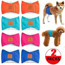 2pc Dog Diapers Pet Male Puppy Belly Wrap Elastic Band Washable Waterproof Outer