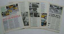 WESTFIELD KIT AUTO raccolta di 7 articoli da pratico automobilista MAGAZINE