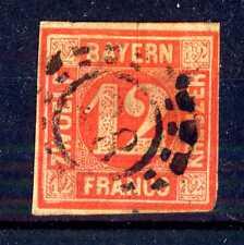 GERMAN STATES  -  BAYERN - 1850 - Grande cifra in cerchio. E5334