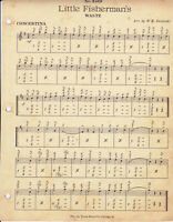 LITTLE FISHERMAN'S WALTZ  #4519 Vitak-Elsnic Concertina sheet music