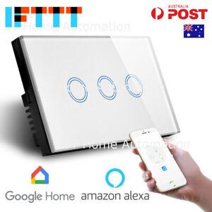 Australian Certified SMART HOME Alexa & Google Home Touch Wall Switch 3 gang SAA