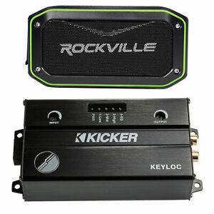 KICKER KEYLOC DSP Smart Powered Line-Out Converter 47KEYLOC+Bluetooth Speaker