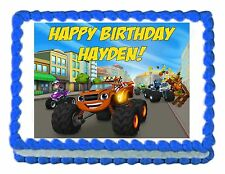 BLAZE AND THE MONSTER MACHINES edible cake topper decoration frosting sheet