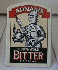 1990s Adnams Southwold Bitter Alc 3.7% Vol Vitreous Enamel Beer Handle Pump Clip