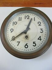 Antique Brass Bayard Clock With Key Made in France