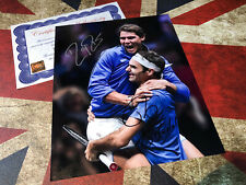 RAFA NADAL & ROGER FEDERER HAND SIGNED PHOTO AUTHENTIC AUTOGRAPH & COA