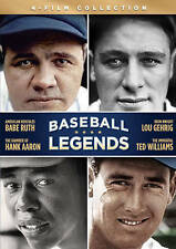 BASEBALL LEGENDS (DVD, 2015, A&E 4-Film Set) New / Sealed / Free Shipping