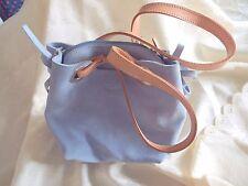 BNWOT Pioneros baby blue suede and leather handbag