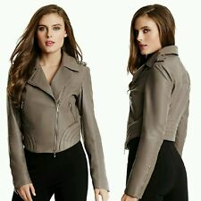 New Guess by Marciano Lamb leather Anetta Moto Jacket size M