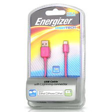 NEW Original Energizer iPhone 6S/6/5S/SE Charger Lightning Cable MFI Certified