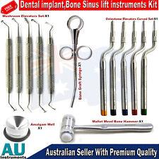 Dental Implant Sinus Lift Kit Osteotomes Mushroom Elevators Bone Mallet Well New