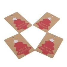 Christmas Gifts Hanging Kraft Tags Paper Label Xmas Holiday Presents Wrap Decor