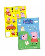 PEPPA PIG STICKER PAD REUSABLE STICKERS AND SCENES GREAT GIFT IDEA FUN COOL