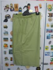 Sage Green  Stretch Cotton  Long Leg Shorts w'' Elastic Waist Size 22-24 (M1623)
