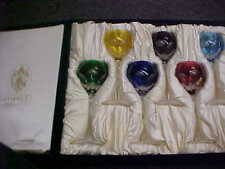 Faberge Crystal LAUSANNE Wine Hocks 6 Colors Mint In Storage Box