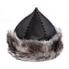 Resurrection Dirilis Ertuğrul Gazi Kayı Boz wolf Hairy Patterned Leather Hat