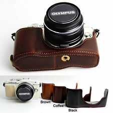Leather Protect Half Case Grip for OLYMPUS Pen E-PL7 EPL7 E-PL8 EPL8