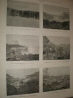 Lava Flow from Mauna Loa volcano Hawaii 1881 prints ref AV