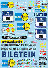 1/10 Touring Car Sticker Set BILSTEIN Audi R8-Xray VBR PR RACING Schumacher