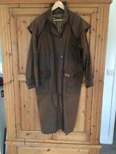 """R M Williams stockmans long waxed coat - XS / 36"""" chest"""