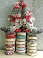 East of india 3 Metre Rolls Of Ribbon All Designs Xmas Mr Mrs Heart Love Robin