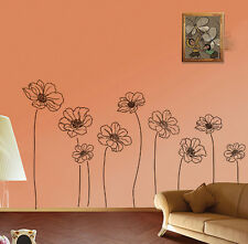 Black  Wall Decor Large Huge Home Decoration Flowers conservarory