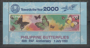 Philippine Stamps 1993 Philippine Butterflies OVPT PAF Anni. MNH (SC#2239b)