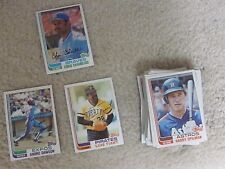 1982 Topps basebal cards- lot of 58,great shape,cheap