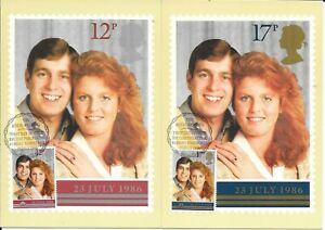 2 x Royal Wedding PHQ Cards - F.D. issue. 22.07.86 - Posted