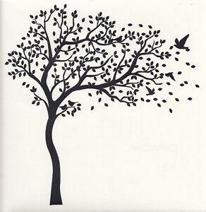Wandtattoo Wandaufkleber Flur Wohnzimmer Familien Baum