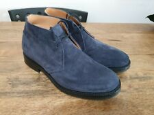 """CHURCH'S """"Ryder 3"""" Suede Chukka Boots-Blue Size UK8.5"""
