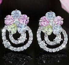 Simulated Topaz Stud Fashion Earrings
