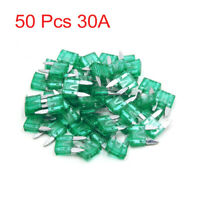 50 Pcs 30A APM ATM Mini Blade Type Fuse Green for Car Motorcycle Truck