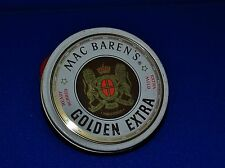 MAC BARENS GOLDEN EXTRA READY RUBBED TOBACCO TIN DENMARK GREAT GRAPHICS