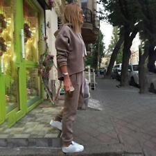 Women Autumn Hoodies Casual Pullover Jogger Pants Tracksuit Two-piece Suit KS
