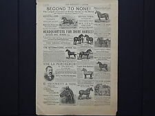 The Breeder's Gazette, Advertising Page, Cows, Horses, c.1880's #07