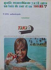 PUBLICITE TIKI BARRE CHOCOLAT NOIX COCO CONFISERIE DE 1966 FRENCH AD PUB VINTAGE