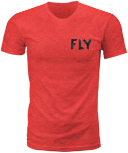 Fly Racing Men's Tape Tee T-Shirt (Red Heather) S