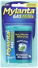 Mylanta Gas Mini Chewable Tabs, Arctic Mint, 50 Mini Tablets Per Bottle (9 Pack)