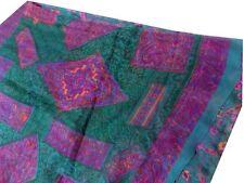 Indian Vintage Saree Cotton Printed Fabric Craft Used Sari Deco PS07 Green Wrap
