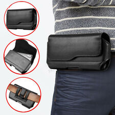 Leather Belt Clip Phone Pouch Holster Case for Samsung iPhone OnePlus