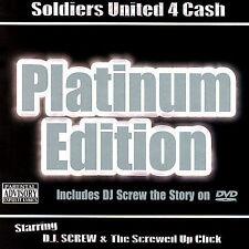 DJ Screw : Soldiers United 4 Cash: Platinum Edition CD