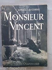 """Livre religieux ancien : """"Monsieur Vincent""""  1948"""