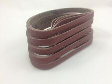 """3/8"""" x 13"""" Sanding Belts, 25 pcs, 60 grit, AL Oxide for Air Grinder- Made in USA"""
