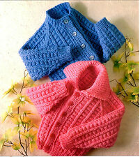 childrens jackets chunky  knitting pattern 99p
